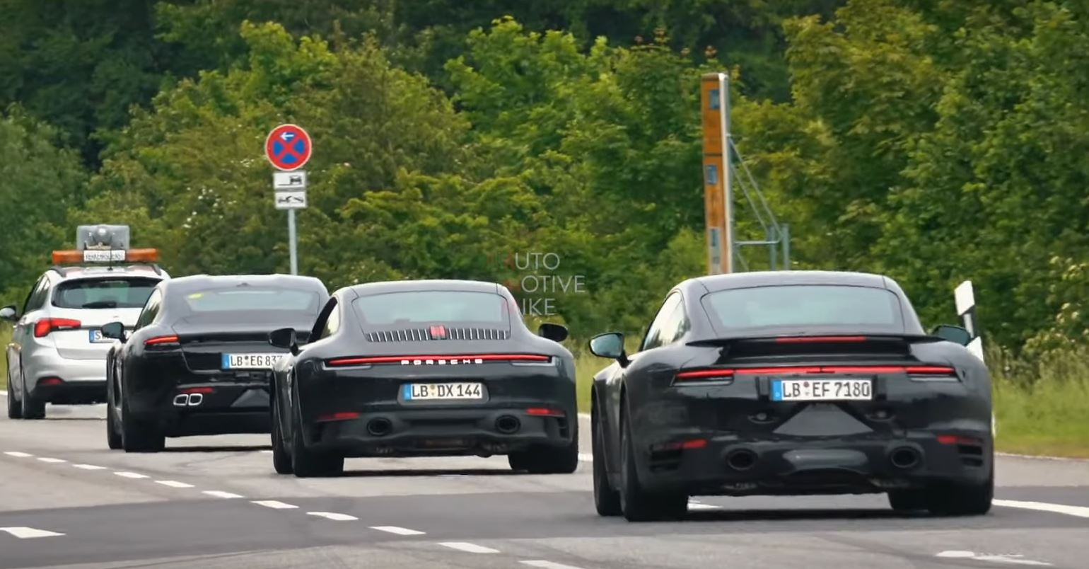 Porsche Taycan Spied at the Nurburgring, Sports Suspension Is