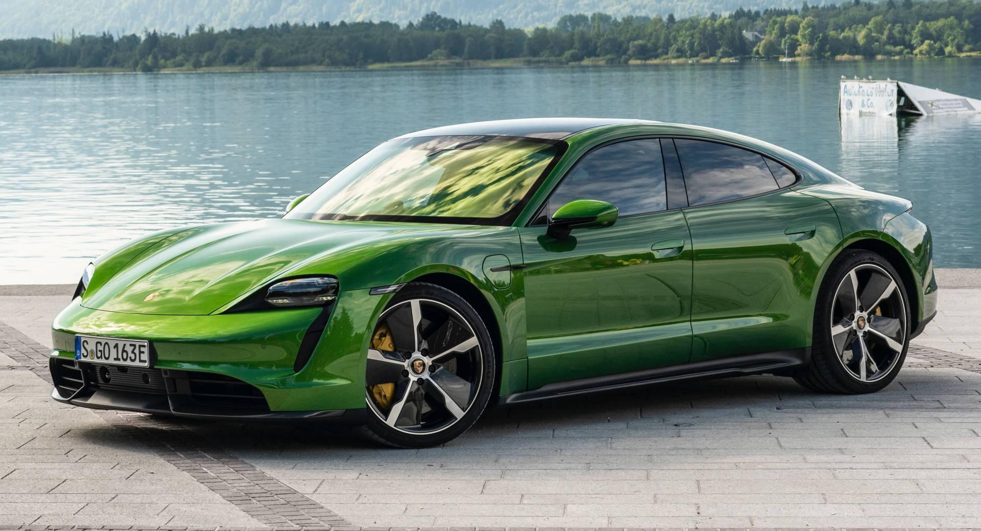 Porsche Taycan Turbo S Looks Epic In Mamba Green Autoevolution