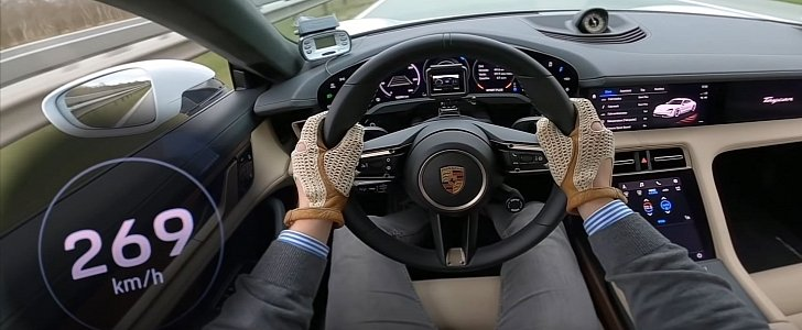 Porsche Taycan Turbo S Proves It Brings Speed to the EV Game With Autobahn Run