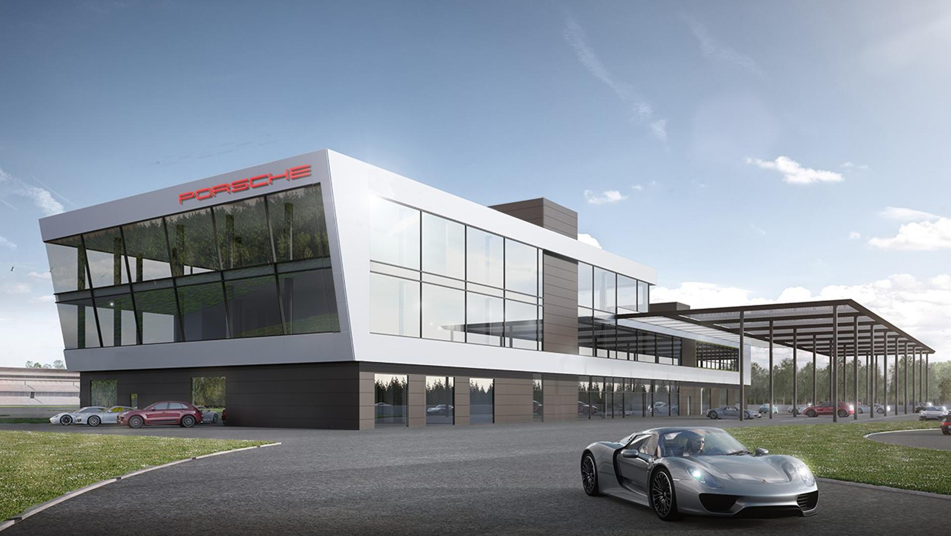 Porsche Works On New Experience Center In Hockenheim