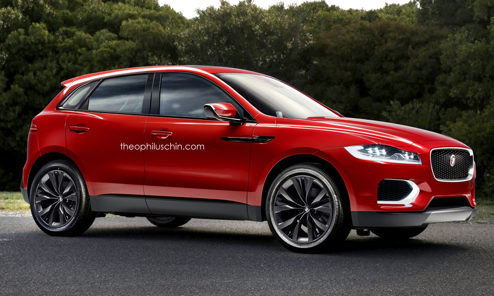 potential jaguar c-xf crossover rendered, could slot under the f