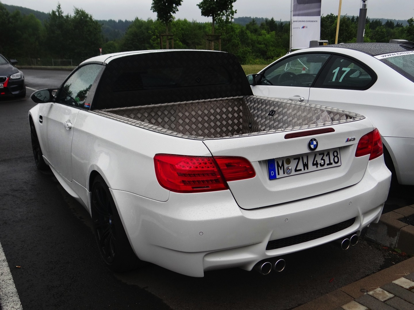 Prank BMW E92 M3 Pick-Up Spotted at the Nurburgring - autoevolution