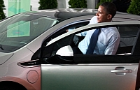 Barack Obama and the Chevy Volt photo