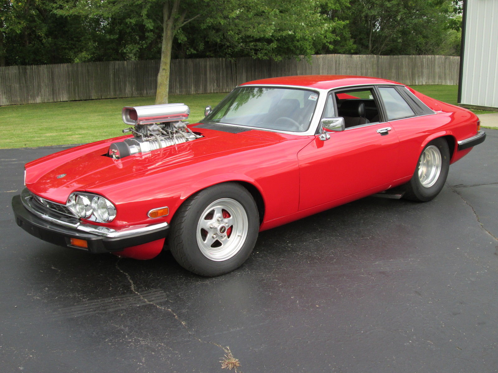 Pro Street Jaguar XJS is Street Legal, Powered by Blown