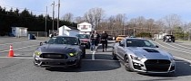 """ProCharged """"Bat-Stang"""" Street-Races a Charger Before Drag Strip-Meeting a GT500"""