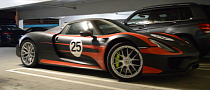 Production Porsche 918 Spyder Spotted in US Ahead of Pebble Beach [Video]