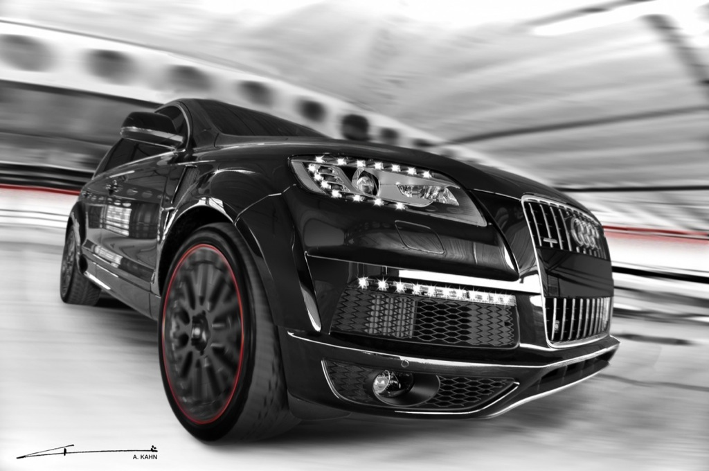 Project Kahn Audi Q7 In Black And White Is Here Autoevolution