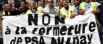 PSA - 200 Aulnay Workers Protest and Disrupt Production