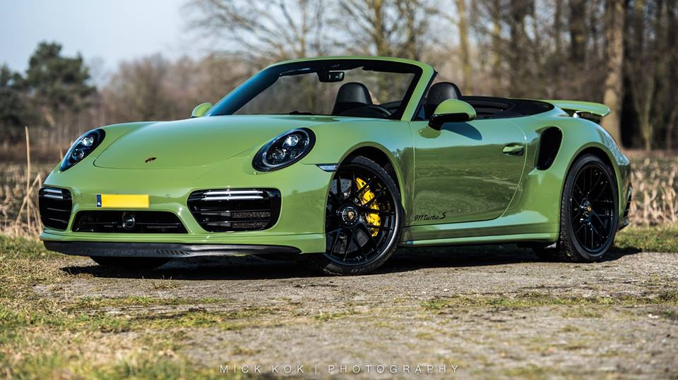 PTS Olive Green Porsche 911 Turbo S Cabriolet Is A Discreet Martini Mention