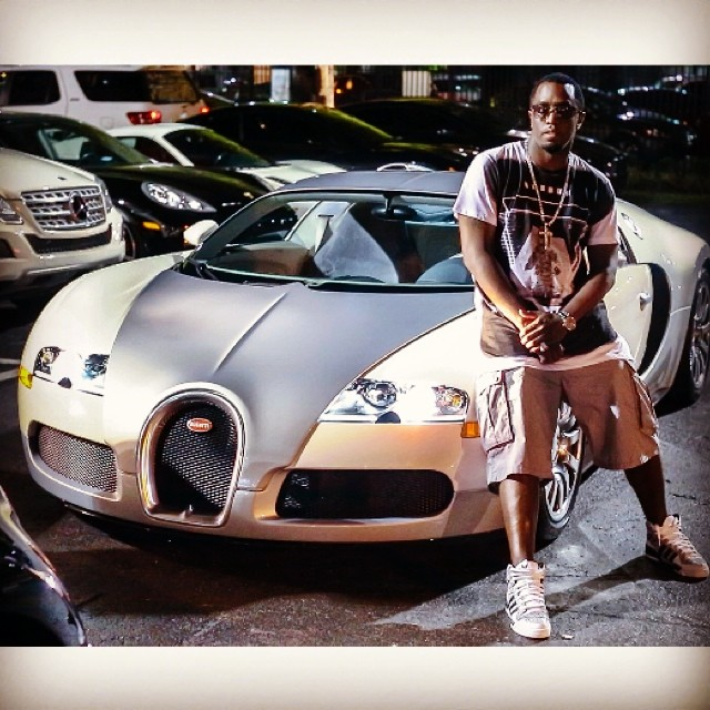 Puff Daddy Sits Next To A Bugatti Veyron The Third One