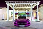 Purple Mercedes SLS AMG Shines in Qatar