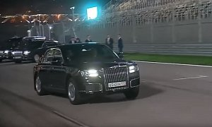 Putin Takes Egyptian President For a Spin in His Aurus Senat on The