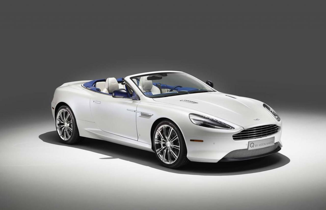 Q By Aston Martin Unveils Db9 Volante Morning Frost One Off Autoevolution