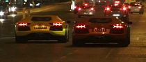 Qatari Aventadors Having Fun in Paris [Video]