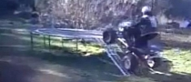 Quad Plus Trampoline Jump Equals Fail [Video]