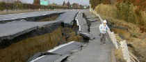 Quake Rips Apart Japanese Road, Japanese Repair It in 6 Days