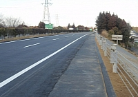 Great Kanto Highway after repairs, six days later