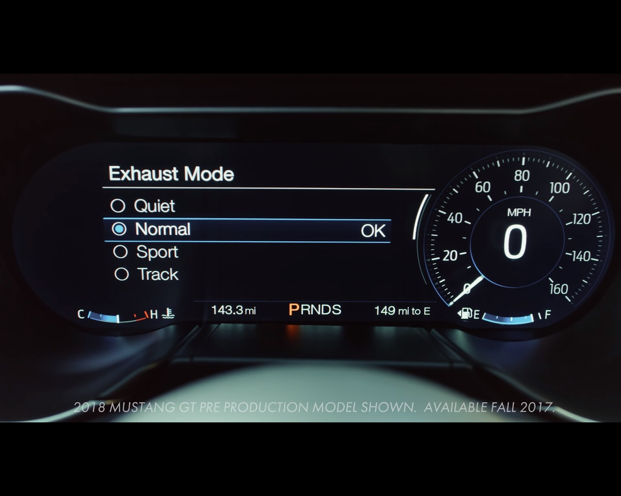 Ford Mustang Quiet Mode