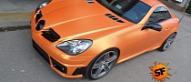 R171 SLK 55 AMG Wrapped in Metallic Orange [Photo Gallery]