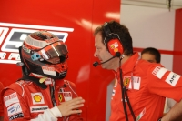 Kimi Raikkonen and Aldo Costa, Ferrari's technical director