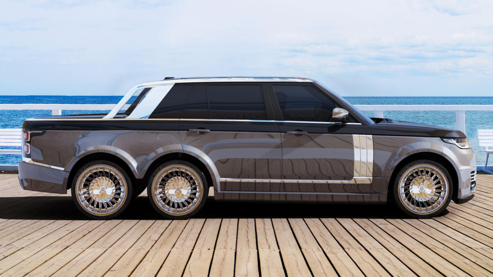 range rover 6x6 pickup is an opulent land yacht suv autoevolution. Black Bedroom Furniture Sets. Home Design Ideas