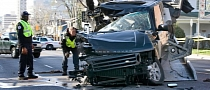 Range Rover Crashed by Drunk Teen Looks like Transformers