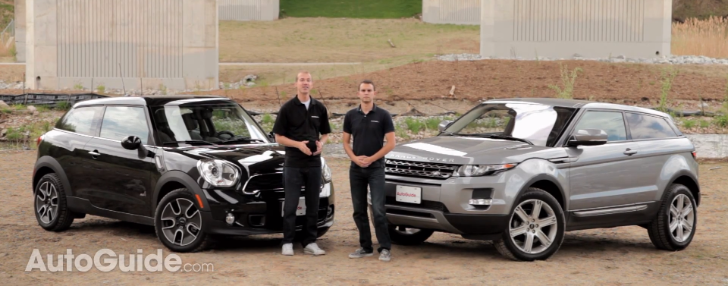 Range Rover Evoque Coupe vs MINI Cooper S Paceman Review [Video]