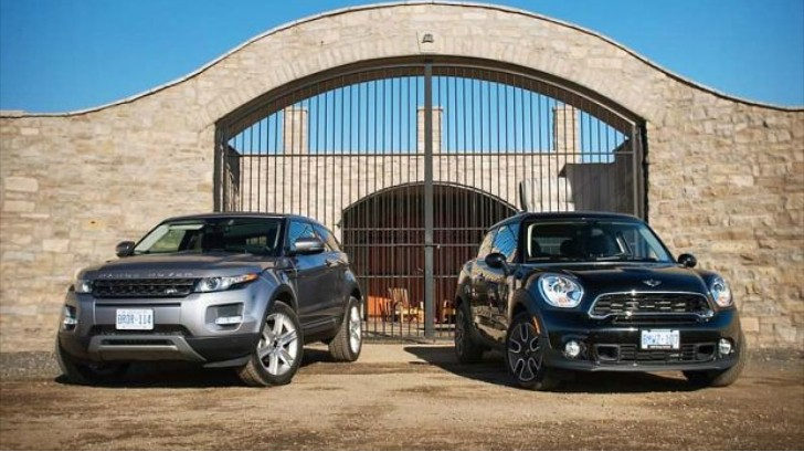 range rover evoque coupe vs mini paceman comparison test autoevolution. Black Bedroom Furniture Sets. Home Design Ideas