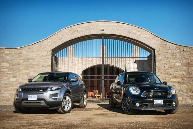 Range Rover Evoque Coupe Vs Mini Paceman Comparison Test Autoevolution