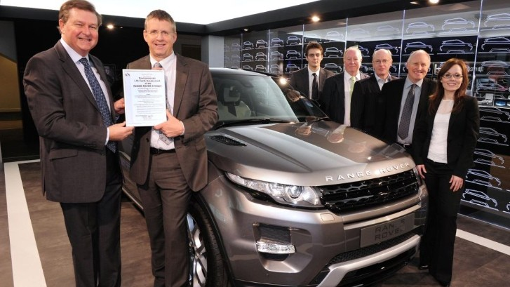 Range Rover Evoque Earns Environmental Certification
