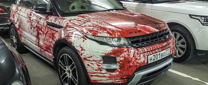 Range Rover Evoque Gets Bloody Makeover In Russia As