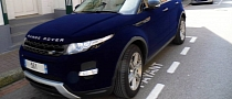 Range Rover Evoque Ruined with Blue Velvet Wrap in France