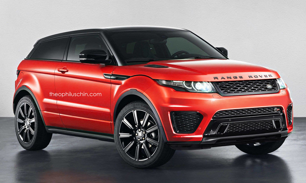 Range Rover Evoque SVR Rendering - autoevolution