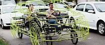 Range Rover Evoque Wire Frame Bicycle