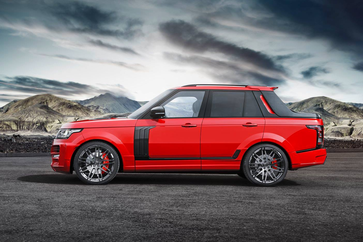 range rover pickup with startech carbon fiber body kit for chinese rednecks autoevolution. Black Bedroom Furniture Sets. Home Design Ideas
