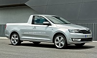 Skoda Rapid Pickup rendering