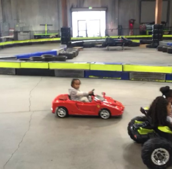 Rapper Tygas Son Drives A Ferrari Toy Car On His 3rd Birthday