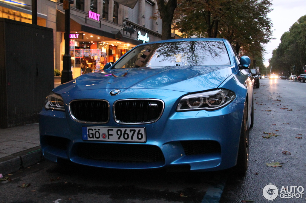 Rare Atlantis Blue Performance Pack Bmw M5 Spotted In Germany Autoevolution