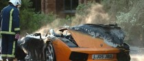 Rare Lamborghini Bursts in Flames