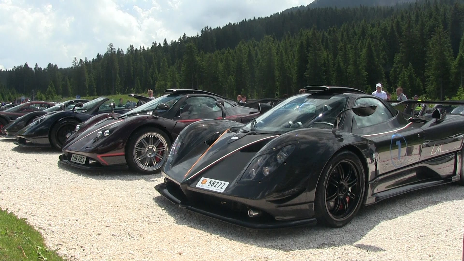 Rarest Pagani Hypercars Form Carbon Fiber Gallery in Italy ...