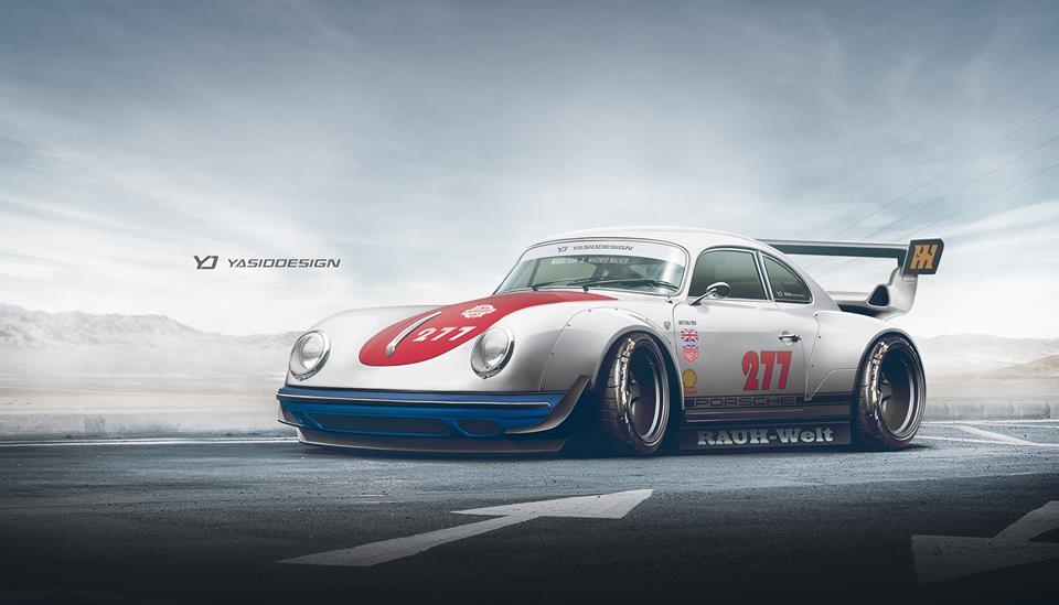 Rauh Welt Begriff Porsche 356 Rendering Is Prepared To