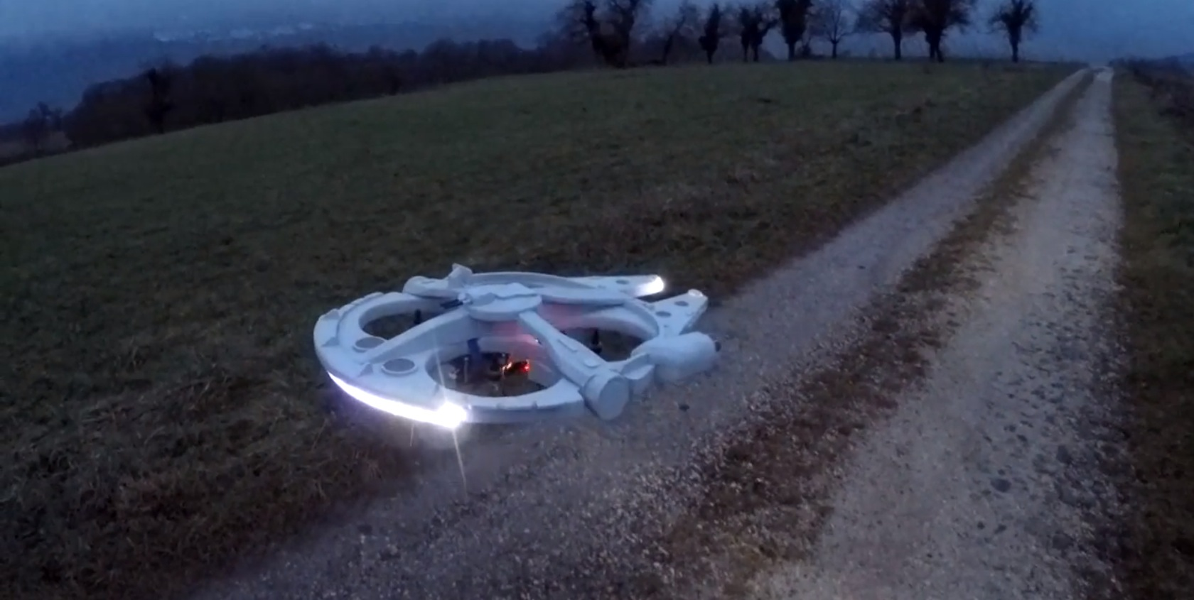 RC Fan Builds Millennium Falcon Drone, Uploads Blueprints for Those ...