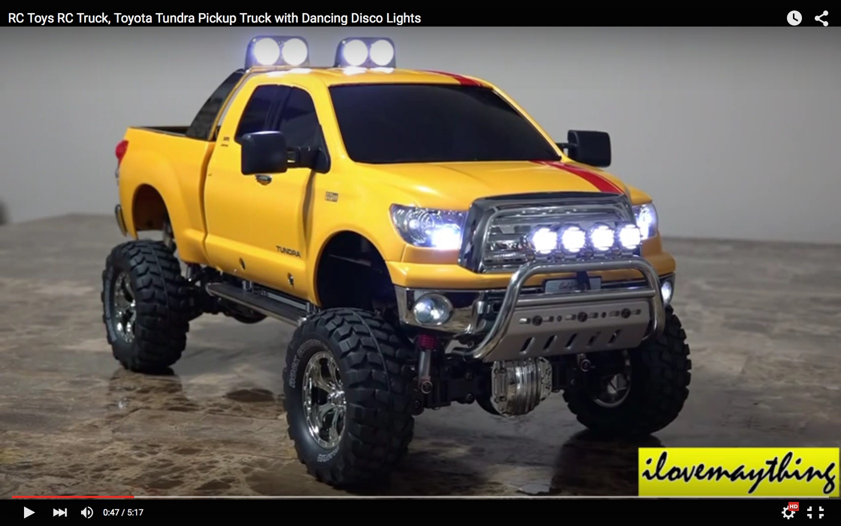 rc toyota tundra pickup truck has disco lights nostalgia kicks in autoevolution. Black Bedroom Furniture Sets. Home Design Ideas