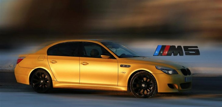 Re-Styling Brings Out a New Color for the BMW E60 M5 - Yellow Metallic Matte [Photo Gallery]