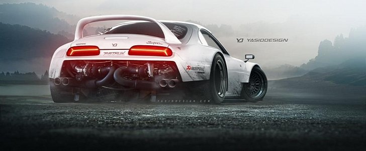 Rear-Engined Toyota Supra Has Twin-Turbo Lamborghini V10 ...