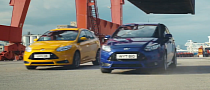 Rear View Camera Race Between Two Ford Focus STs [Video]