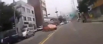 Reckless Driver Doesn't Even Look Out for Incoming Scooter [Video]
