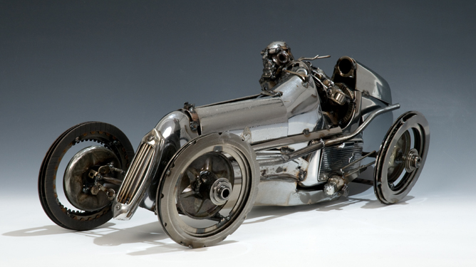 Recycled Car Parts Turn Art Autoevolution