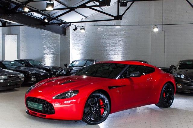 red aston martin v12 vantage zagato for sale autoevolution. Black Bedroom Furniture Sets. Home Design Ideas