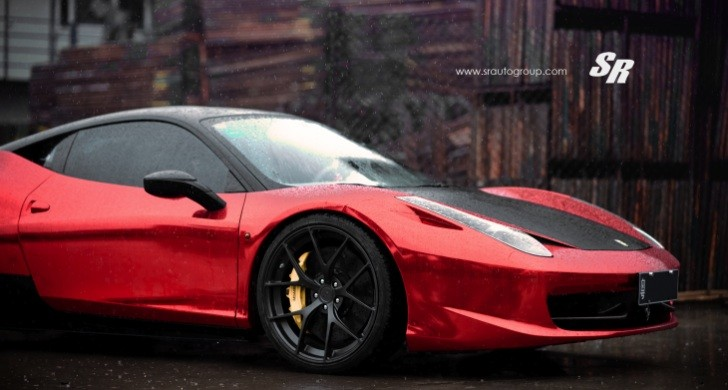 Red Chrome Ferrari 458 Italia on PUR Wheels [Photo Gallery]